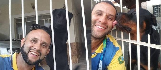 Carteiro mostra amizade com cães das casas em que entrega cartas e faz sucesso