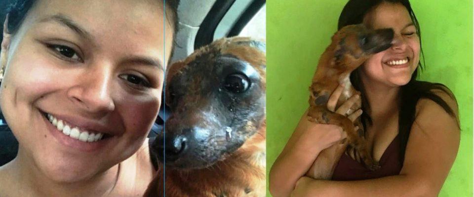 Cãozinho que sofria maus tratos chora ao ser adotado por Jovem