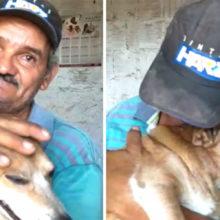 """Pedreiro encontra seu cão após incêndio """"Eu podia perder tudo, menos ele"""""""
