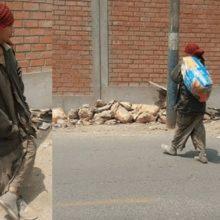 Um jovem se veste de mendigo para alimentar cães de rua