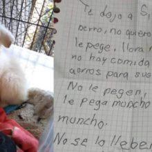 Cão é deixado em abrigo por criança com uma carta emociante