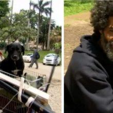 Morador de rua emociona por amor ao seu cão : Primeiro eu alimento ele, para depois eu me alimentar