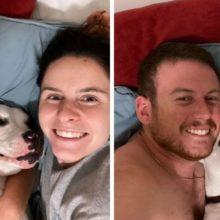Cachorro abandonado tem a melhor reação ao encontrar uma família amorosa