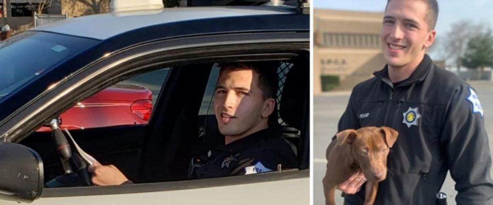 Policial vê cachorrinho sendo agredido pelo tutor, prende ele e toma uma decisão