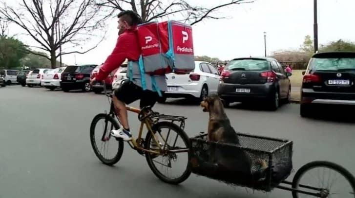 Entregador modifica sua bicicleta 2